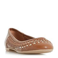 Dune - Tan 'Morrans' woven ballerina shoes