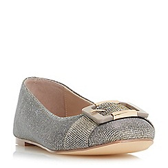 Dune - Gold 'Heston' buckle ballerina shoes