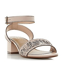Dune - Pink 'Immie' laser cut two part sandals