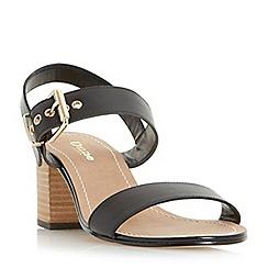 Dune - Black 'Wf jany' wide fit block heel buckle sandals
