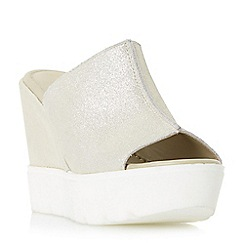 Dune - Gold 'Kammi' platform mule wedge sandals