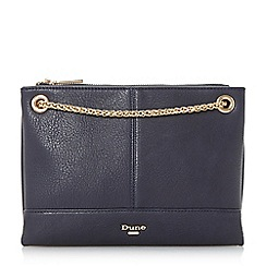 Dune - Navy 'Eholly' triple pouch evening shoulder bag