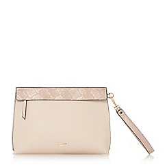 Dune - Natural 'Eharriet' front zip clutch bag
