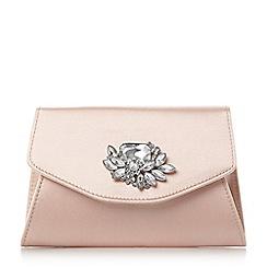 Head Over Heels by Dune - Pink 'Bintle' jewel flap over clutch bag
