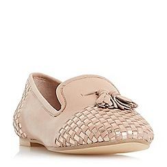 Dune - Light pink 'Gentle' woven tassel loafer shoes