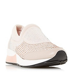 Dune - Light pink 'Echoes' embellished slip on trainers
