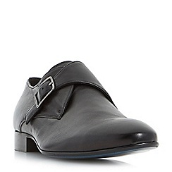 Bertie - Black 'Pounce' single buckle monk shoes