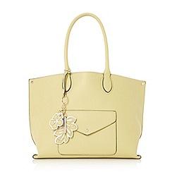 Dune - Light green 'Dockie' envelope pocket shopper bag