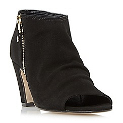 Dune - Black 'Isabela' side zip foot coverage shoe boots