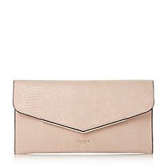 Dune - Cream 'Epeonnie' metal insert envelope clutch bag