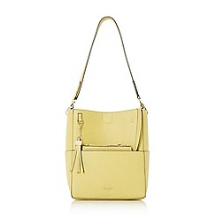 Dune - Light green 'Duckett' tassel charm bucket bag