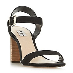 Dune - Black 'Isobel' two part stacked heel sandals