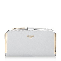 Dune - Grey 'Kassia' metal trim rectangular purse with removable pouch