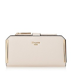 Dune - Light pink 'Kassia' metal trim rectangular purse with removable pouch