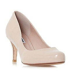 Dune - Natural 'Amelia' mid heel court shoes