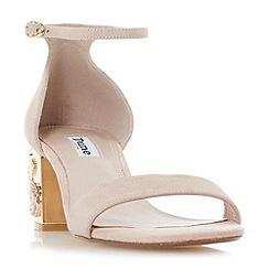 Dune - Light pink 'Maygo' rose embellished block heel sandals