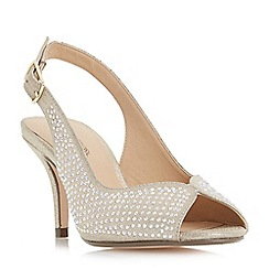 Roland Cartier - Gold 'Maizie' slingback peep toe shoes