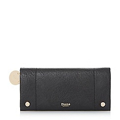 Dune - Black 'Kadey' fold over purse with removable card holder