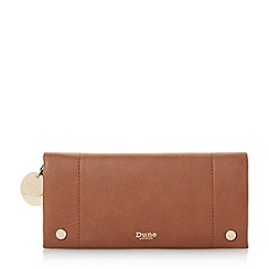 Dune - Tan 'Kadey' fold over purse with removable card holder