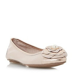 Dune - Light pink 'Hyacinth' corsage ballerina shoes