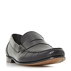 Bertie - Black 'Primus' penny saddle loafer shoes