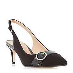 Roberto Vianni - Black 'Corinna' buckle trim slingback  court shoes