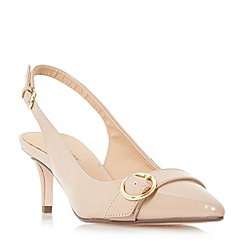 Roberto Vianni - Natural 'Corinna' buckle trim slingback  court shoes