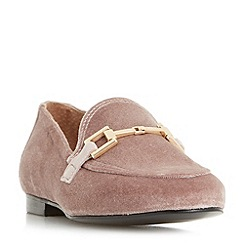 Dune - Light pink 'Guru' metal saddle trim loafer shoes