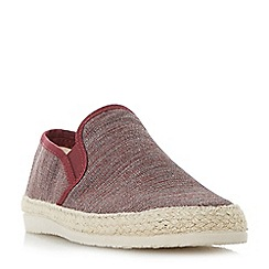 Dune - Maroon 'Finnick' flecked canvas espadrille shoes