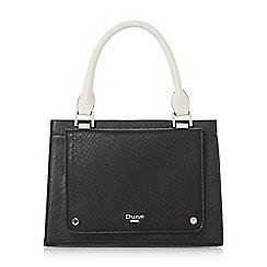 Dune - Black 'Dinidophie' mini fold over top handle bag