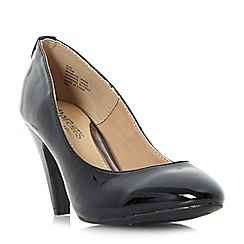 Head Over Heels by Dune - Black 'Ava' soft point mid heeled court shoes