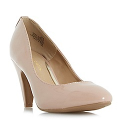 Head Over Heels by Dune - Natural 'Ava' soft point mid heeled court shoes