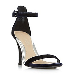 Head Over Heels by Dune - Navy 'Madera' two part high heeled stiletto sandals
