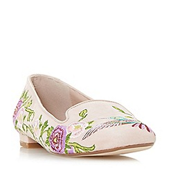 Dune - Light pink 'Growe' slipper cut loafer shoes