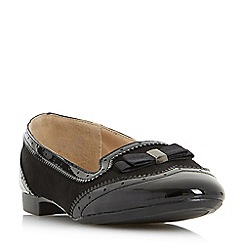 Head Over Heels by Dune - Black 'Graicee' brogue style slippers loafers