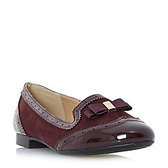 Head Over Heels by Dune - Maroon 'Graicee' brogue style slipper loafers