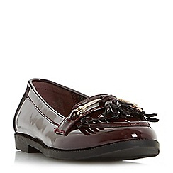 Head Over Heels by Dune - Maroon 'Gigli' slip on tassel loafer shoes