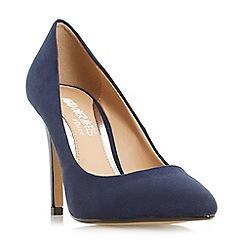 Head Over Heels by Dune - Navy 'Alice' pointed toe court shoes