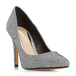 Head Over Heels by Dune - Silver 'Alice' pointed toe court shoes