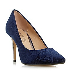 Head Over Heels by Dune - Navy 'Alana' pointed toe stiletto court shoes