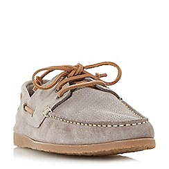 Bertie - Taupe 'Beach house' suede lace up boat shoes