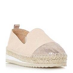 Dune - Natural 'Guest' slipper cut toecap espadrille shoes
