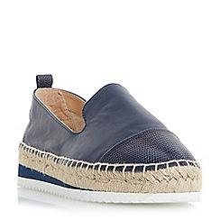 Dune - Navy 'Guest' slipper cut toecap espadrille shoes