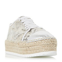 Dune - Natural 'Favour' espadrille flatform trainers