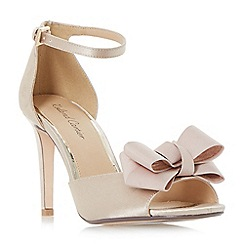 Roland Cartier - Natural 'Marcie' two part bow trim sandals