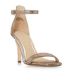 Head Over Heels by Dune - Gold 'Madera' two part high heeled stiletto sandals