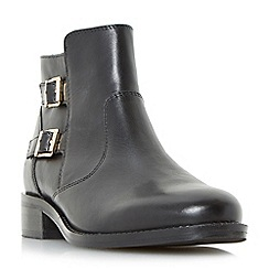 Roberto Vianni - Black 'Pria' double buckle ankle boots