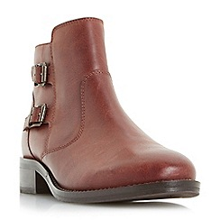 Roberto Vianni - Maroon 'Pria' double buckle ankle boots