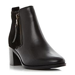 Roberto Vianni - Black 'Poetry' block heel side zip ankle boots