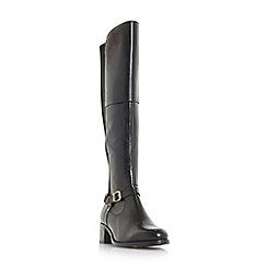 Roberto Vianni - Black 'Tierny' buckle strap over the knee boots